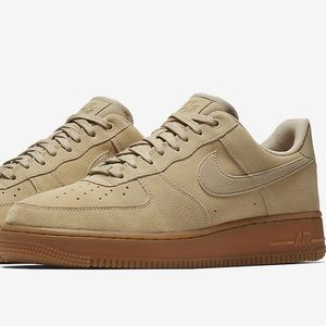 Nike air force 1  mushroom suede men $110